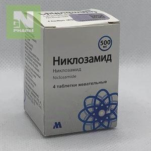 Никлозамид таб жев 500мг N4