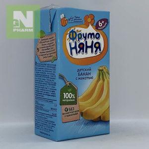 ФрутоНяня Сок детский банан с мякотью с 6мес 200мл