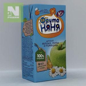 ФрутоНяня Сок детский яблоко, липа и ромашка 6мес 200мл