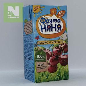 ФрутоНяня Сок детский яблоко и черешня 5мес 200мл