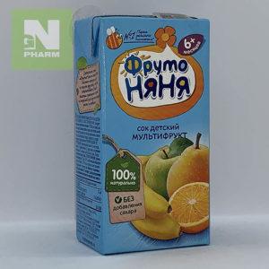 ФрутоНяня Сок детский мультифрукт 6мес 200мл