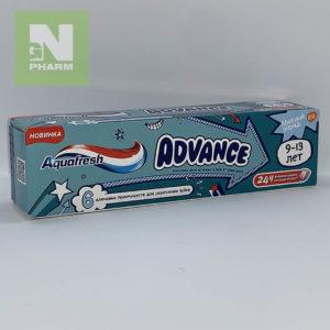 Зубная паста Aquafresh Advance Мятный заряд 9-13лет 75мл