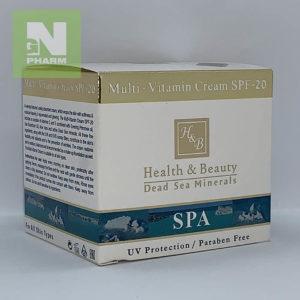 Крем для лица Health & Beauty мультивитаминный SPF-20 50мл