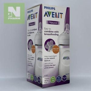 Бутылочка Philips Avent Natural 1м+ 260мл