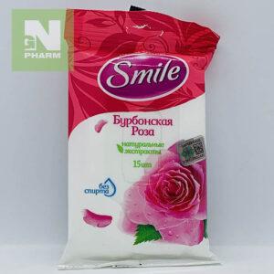 Влажные салфетки Smile Бурбонская Роза N15