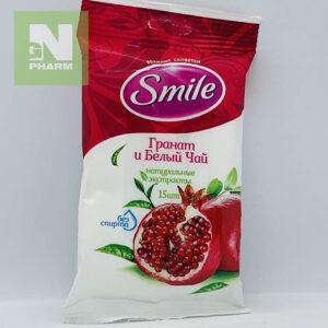 Влажные салфетки Smile Гранат и Белый Чай N15