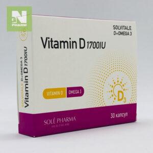 Витамин D3 1700IU + Омега 3 капс N30